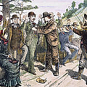 Stagecoach Robbery, 1880s Print by Granger