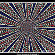 Stained Glass Kaleidoscope 49 Print by Rose Santuci-Sofranko