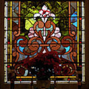 Stained Glass Lc 17 Print by Thomas Woolworth
