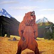 Standing Grizzly  Print by Mickael Bruce