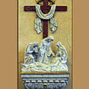 Station Of The Cross 13 Print by Thomas Woolworth