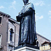 Statue Of Paolo Sarpi, Venetian Scientist Print by Sheila Terry