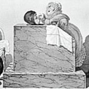 Steam Bath, Satirical Artwork Print by