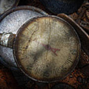 Steampunk - Gauge For Sale Print by Mike Savad
