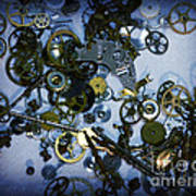 Steampunk Gears - Time Destroyed Print by Paul Ward