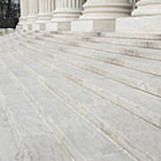 Steps Leading To The Supreme Court Print by Roberto Westbrook