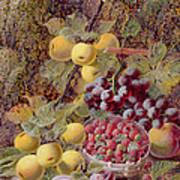 Still Life With Fruit Print by Oliver Clare