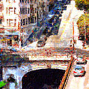 Stockton Street Tunnel San Francisco . 7d7499 Print by Wingsdomain Art and Photography