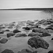 Stones In North Sea In Germany Print by by Felix Schmidt