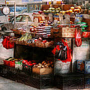 Store - Ny - Chelsea - Fresh Fruit Stand Print by Mike Savad