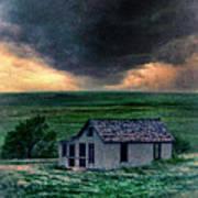 Storm Over Abandoned House Print by Jill Battaglia