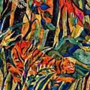 Storm Tribute To Henri Rousseau Print by Sandra Kern