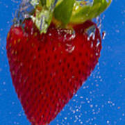 Strawberry Soda Dunk 7 Print by John Brueske