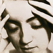 Stressed Woman Print by Cristina Pedrazzini