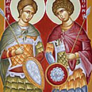 Sts Dimitrios And George Print by Julia Bridget Hayes