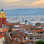St.tropez At Sunset Print by Elena Elisseeva