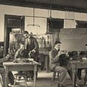 Students Constructing Telephones Print by Everett