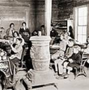 Students In A One-room School Print by Everett