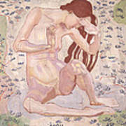 Study For Day Print by Ferdinand Hodler