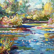 Summer Pond Print by David Lloyd Glover