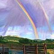 Summer Rain At The Ranch Print by Rita Lackey