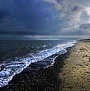 Sun Light On Dunwich Beach Print by Darren Burroughs