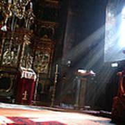 Sun Rays In Orthodox Church Print by Emanuel Tanjala
