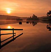 Sunrise At Knapps Loch Print by Grant Glendinning