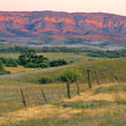 Sunset Glow On Flinders Ranges In Moralana Drive, South Australia Print by Peter Walton Photography