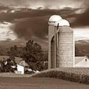 Sunset On The Farm S Print by David Dehner