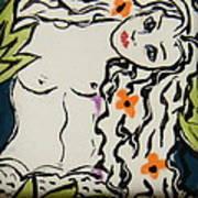 Sweet Mermaid Print by Patricia Lazar