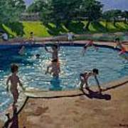 Swimming Pool Print by Andrew Macara
