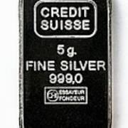 Swiss Silver Bar Print by Laguna Design