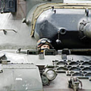 Tank Driver Of A Belgian Leopard 1a5 Print by Luc De Jaeger