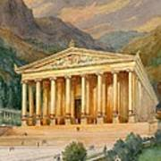 Temple Of Diana Print by English School