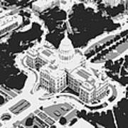 Texas Capitol Bw3 Print by Scott Kelley
