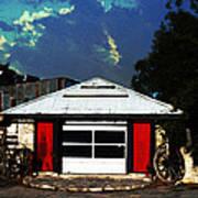 Texas Garage Print by Kelly Rader