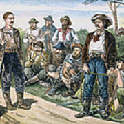 Texas Vigilantes, C1881 Print by Granger