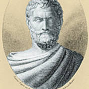 Thales, Ancient Greek Philosopher Print by Photo Researchers, Inc.
