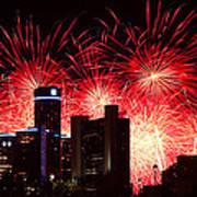 The 54th Annual Target Fireworks In Detroit Michigan - Version 2 Print by Gordon Dean II