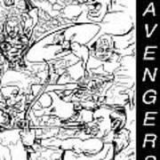 The Advengers Print by Big Mike Roate