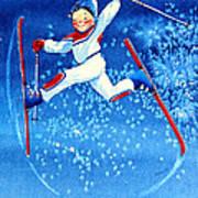 The Aerial Skier 16 Print by Hanne Lore Koehler