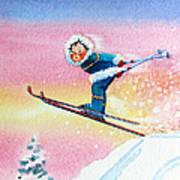 The Aerial Skier - 7 Print by Hanne Lore Koehler