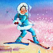 The Aerial Skier - 8 Print by Hanne Lore Koehler