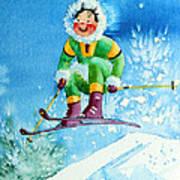 The Aerial Skier - 9 Print by Hanne Lore Koehler