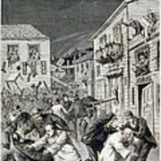 The Anti-chinese Riot In Denver Print by Everett