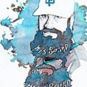The Beard Print by Michael  Pattison
