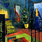 The Blue Room Print by Mona Edulesco
