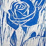 The Blue Rose Print by Marita McVeigh