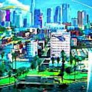 The City Of Angels Print by Rom Galicia